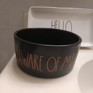 Rae Dunn beware of me pet bowl